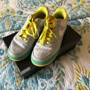 Nike Air Force Ones COLORFUL!!